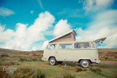 Classic Westfalia VW Camper at Landacre, Devon. Exmoor
