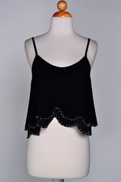 "To The Beach Crop Top: Black - Shoreline Boutique $27 + Free Shipping and 10% off w/ code ""SHORELINEREPASHLEY"""
