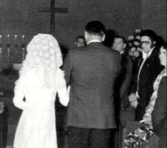 Elvis at Dick Grob's wedding -the wedding took place on December 11, 1970 in Palm Springs. Dick Grob  was Elvis Presley's head of security between 1969 and 1977.