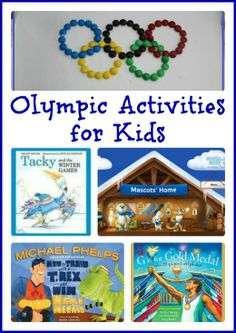A fun list of books & activities about the Olympics for kids -- great for use at home or in the classroom!