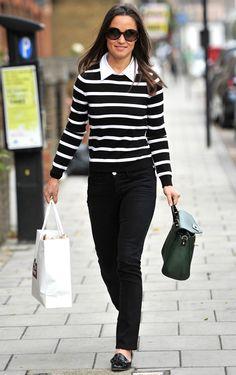 "Pippa Middleton Shops in Alice + Olivia ""Shellen Nock"" Bow-Tie Sweater"