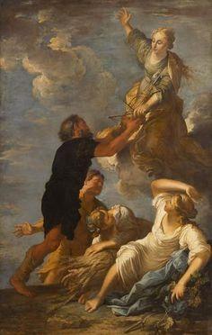 Astrée quitte la Terre, par Salvator Rosa (1665)