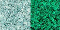 Toho 11//0 Seed Beads Glow In The Dark Baby Blue //Glow Bright Green 28Grams