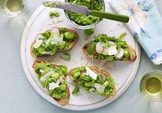Don't overlook the great British broad bean. Mouthwatering ideas from BBC Good Food. Broad Bean Recipes, Beans Recipes, Veg Recipes, Bbc Good Food Recipes, Healthy Recipes, Beans On Toast, Bean Salad, Healthy Appetizers