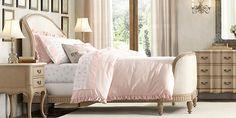 Belle Upholstered Bed Collection | Restoration Hardware Baby & Child