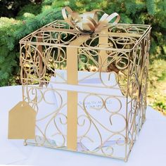 Wedding Reception Gift Card Holder *NEW COLOR - GOLD. www.ceceliasbestwishes.com