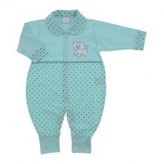 Macacão para Bebê de Malha Poá Colorido - 9030
