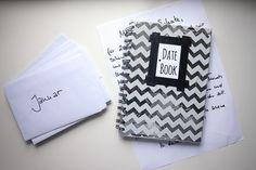 DIY // Datebook for my Love. 12 Dates für 2015. Ein Date für jeden Monat