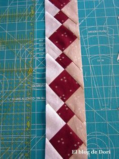 Labores en Red: Seminole Patchwork be sure to hit translate at the top Tutorial Patchwork, Patchwork Patterns, Patchwork Quilting, Scrappy Quilts, Quilt Block Patterns, Quilt Blocks, Quilting Tutorials, Quilting Projects, Quilting Designs