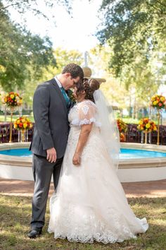 First Look for a Disney Fairy Tale Wedding on Oak Manor Lawn at Port Orleans - Riverside