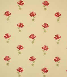 A country rose fabric. This traditional fabric is made from polyester cotton. A great curtain material, also suitable for blinds and cushions. Our online store and shops in Burford, near Oxford and Cheltenham have huge stocks of discount curtain and upholstery fabrics.