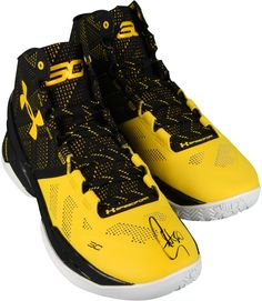 Stephen Curry Golden State Warriors Autographed Curry 2 Black and Yellow Shoes