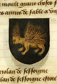 Noms, armes et blasons des chevaliers de la Table Ronde, MS M. 16 fol. 15v - Images from Medieval and Renaissance Manuscripts - The Morgan Library & Museum