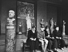 ''Art has the power to transform, to illuminate, to educate, inspire and motivate.'' (Goethe) __ image: Children at the Louvre Museum, Paris, 1950's (photographer unknown)