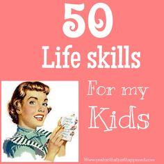 50 life skills for my kids