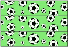 Soccer Party Water Bottle Labels from PrintableTreats.com