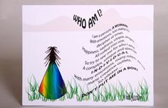Who Am I, Inspirational Note Card, Blank Note Card, Motivational Verse Card for a friend, Encouraging Words, Mother's Day. $2.00, via Etsy.