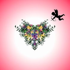 Stupid Cupid <3 #hearts #love and #flowers pink abstract background