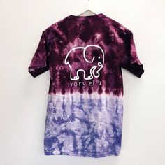 Ivory Ella Purple and Blue Tie Dye