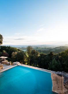 Amazing view from the amazing pool at Hotel Borgo Pignano in Tuscany