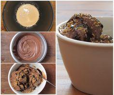 Sorvete caseiro de chocolate! Receita super simples de ser feita, vale muito a pena conferir essa delícia   cozinhalegal.com.br