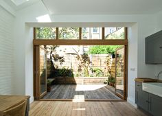 Glazed extension, Clissold Crescent by Bradley Van Der Straeten architects
