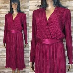 I just added this to my closet on Poshmark: Vintage Mrs. Classic Magenta Crinkle Dress. Price: $40 Size: 14