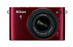 Nikon 1 J3 14.2 MP HD Digital Camera System with 10-30mm VR and 30-110mm VR 1 NIKKOR Lenses (Red). 14.2 MP super high-speed AF CMOS Sensor. Shoot 15 fps w/ autofocus. Wi-Fi Connectivity with WU-1b adapter (not included). Best Moment Capture - view live images in slow motion.