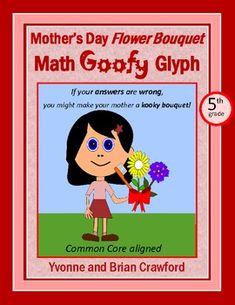 Mother's Day Math Goofy Glyph (5th Grade Common Core) $
