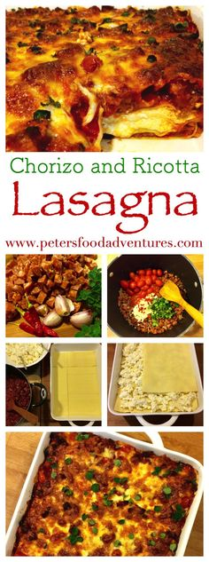 Classic Meat Lasagna recipe made better with spicy Chorizo and creamy Ricotta. It's the perfect Italian comfort food! Chorizo and Ricotta Lasagna Recipe Italian Meat Lasagna Recipe, Lasagna Recipe With Ricotta, Italian Recipes, Mexican Food Recipes, Dinner Recipes, Meaty Lasagna, Lasagna With Cottage Cheese, Ovens, Kitchens