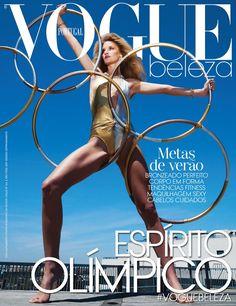 Linda Vojtova poses in sporty looks for Vogue Portugal Magazine June 2016 issue