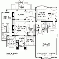 PLAN OF THE WEEK  Ranch and Hillside Walkout        Craftsman    Visit our house plans blog to see our Plan of the Week  The Foxglove