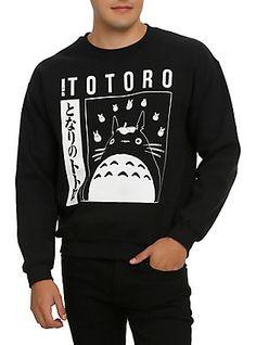 Studio Ghibli My Neighbor Totoro Crew Pullover, BLACK 40 dollars at HOT TOPIC
