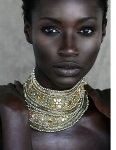 So gorgeous- her skin just glows, and that amazing bone structure!