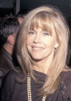 Few celebrities have had such prolific careers as Jane Fonda. Here, explore the actress and activist's many beauty looks from 1965 to now. Jane Fonda Barbarella, Jane Fonda Hairstyles, African American Models, Cut Her Hair, Perfect Smile, Long Lashes, Big Hair, Hair Looks, Short Hair Cuts