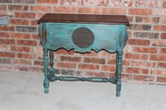 Console table painted with ASCP (Florence) and dark wax.  Great find!