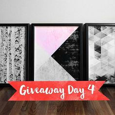 """Day 4 of the """"Ho-Ho-Holiday Giveaway"""" features three art prints by Honey Tree Prints, Exile Prints and LILAxLOLA   Hosted by Style & Spice"""
