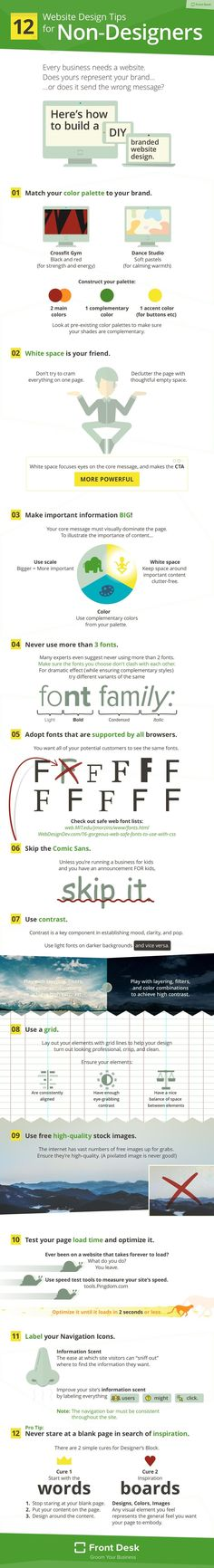 Building Your Own Website? 12 Simple Web Design Tips for Non-Designers [Infographic]