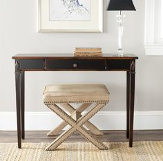 Safavieh American Home Lindy Console Table Dark Brown