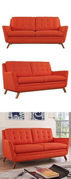 Perfect for a transitional or retro-chic room, this Synchronicity Fabric Loveseat features a charming mid-century–inspired design. This nostalgic piece features beautifully hued fabric upholstery and d...  Find the Synchronicity Fabric Loveseat, as seen in the Loveseats Collection at http://dotandbo.com/category/furniture/sofas-and-sectionals/loveseats?utm_source=pinterest&utm_medium=organic&db_sku=117687