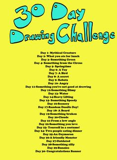 Draw a day challenge! Love these so much fun! I mean if you like drawing ·-·