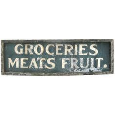 Early Grocers Sign