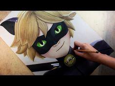 Speed Drawing: Cat Noir /Chat Noir (Miraculous Ladybug) | Diana Díaz