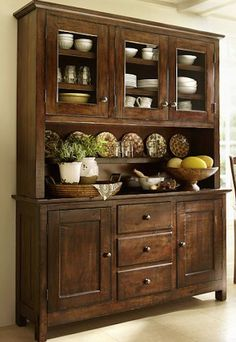 Something similar to this for the formal dining area: Benchwright Buffet & Hutch Buffet Hutch, Dining Room Hutch, Kitchen Dining, Kitchen Decor, Kitchen Hutch, Dining Buffet, Barn Kitchen, Dining Area, Cabinet Decor