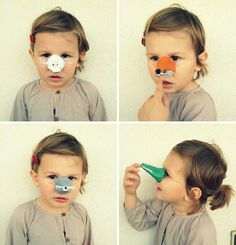 Easy Kids Craft From Up-Cycled Egg Cartons - Funny Animal Noses For Quick Halloween Costume Ideas