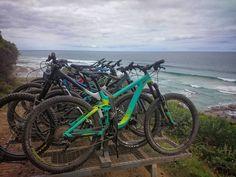 Bike Bike more Bikes. #mtb #mountianbike #downhill #allmountian #trails #climb #ride #apollobay #greatoceanroad by alf_ington http://ift.tt/1LQi8GE