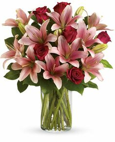 So Enchanting Bouquet -  roses and lilies, Teleflora.com