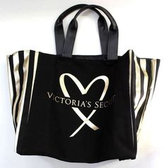 Prada Women's Canapa Grommet Small Garden Tote Bag Black Love Canvas, Black Canvas, Tote Bags For College, Black Gold Jewelry, Heart Of Gold, Black Heart, Gold Logo, Victoria Secret Bags, Shopper Tote