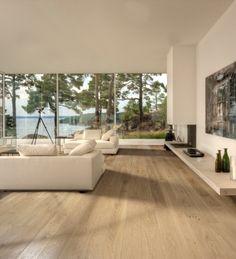 light oak floor - color scheme