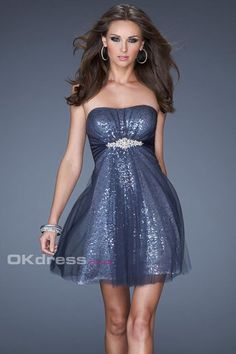 f7f6c4c9d3f Top Designer Short Strapless Sequin Dress by La Femme 19421 now available  at Homecoming dresses Shop!